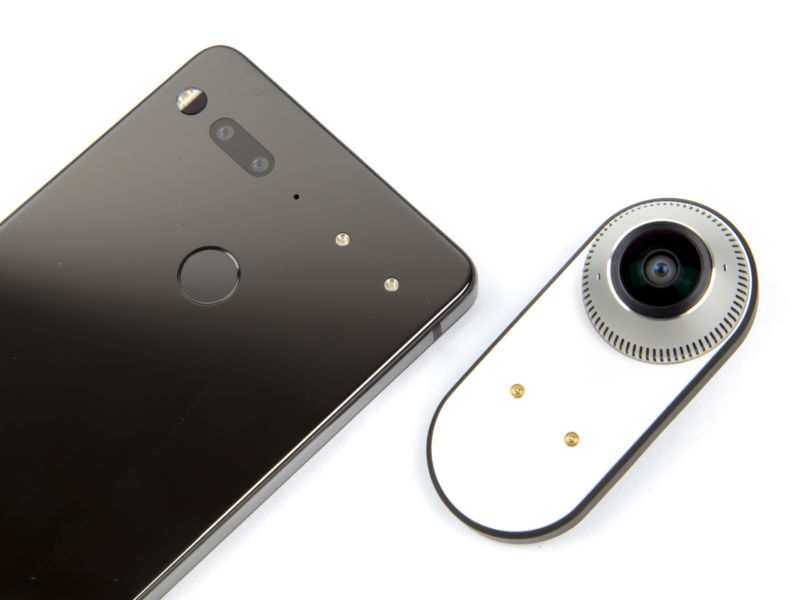 The Essential Phone and 360 camera.