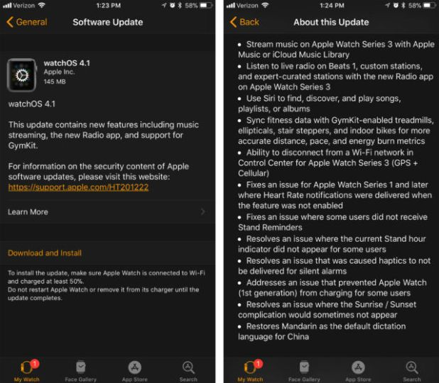 All-new features in watchOS 4.1