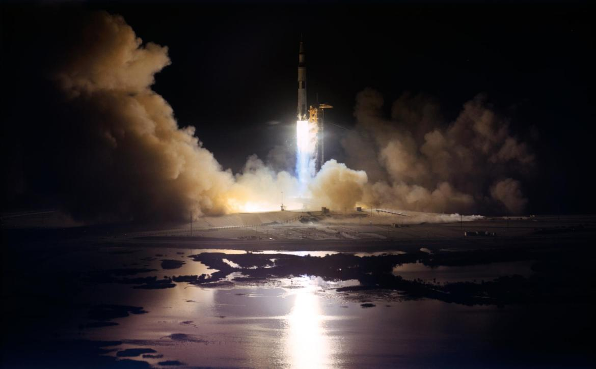 Apollo 17 was the first and only night launch of the Saturn V rocket.