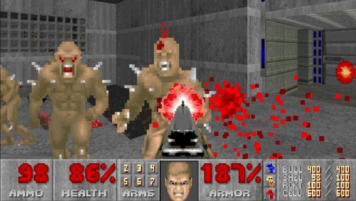 Screenshot of the original Doom