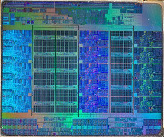 Intel Ivy Bridge Xeon E7 v2 die shot.