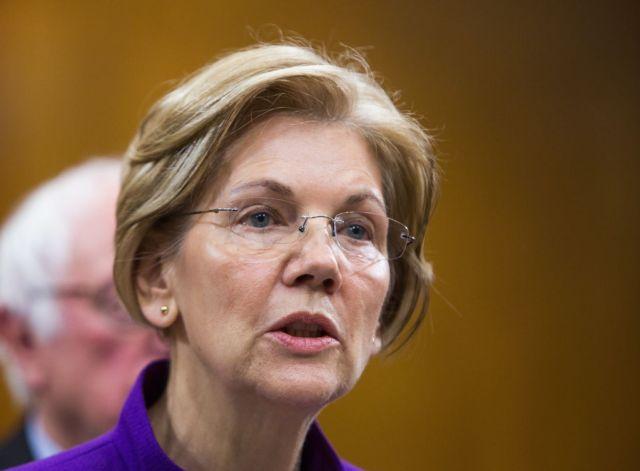 WASHINGTON, DC - NOVEMBER 28, 2017: Senator Elizabeth Warren (D-Mass.) at a news conference.