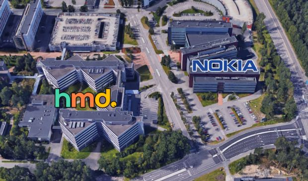 What separates Nokia from HMD? About 100 feet of asphalt.