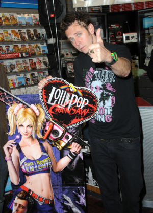 James Gunn participates in the <em>Lollipop Chainsaw</em> launch party held at GameStop on June 11, 2012 in West Hollywood, California. (Photo by Albert L. Ortega/Getty Images)