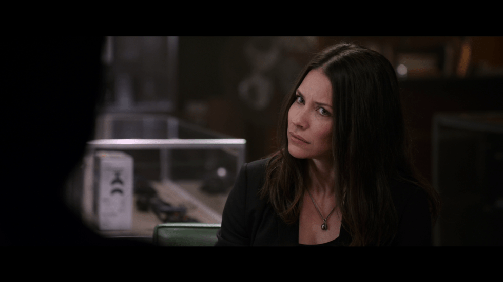 """This is Evangeline Lilly's """"why didn't I get better characterization in this film"""" face."""