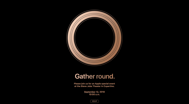 A vaguely ominous invitation to an Apple event.