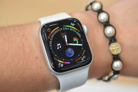 The Apple Watch Series 4 on a wrist.