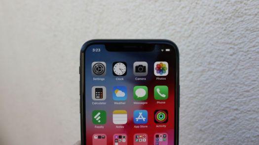 iOS 12 on an iPhone X.