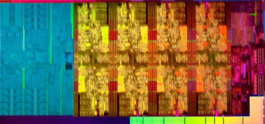 Stylized close-up image of microchip.