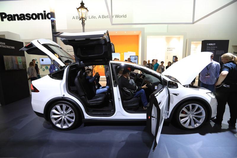 A Tesla with Panasonic batteries