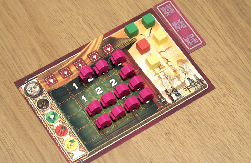 The Eastern Wonders player board.