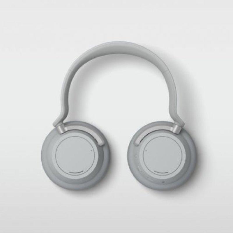 Promotional image of wireless headphones on white background.