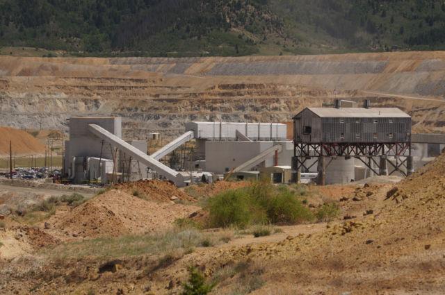 Berkeley Pit open pit copper mine in Butte, Montana