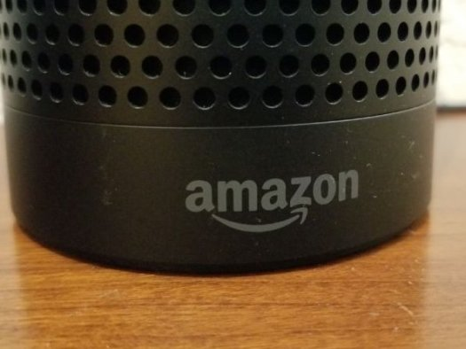 An Amazon Echo smart speaker.
