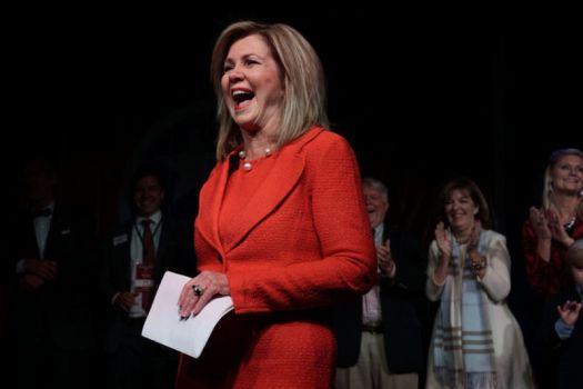 Marsha Blackburn celebrates Senate victory at an election night party.