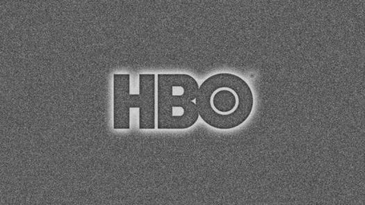 The HBO logo on a TV screen with static.