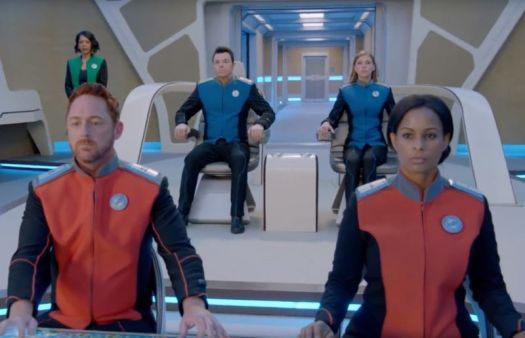 The crew of the USS Orville stands ready for new adventures in season 2 of <em>The Orville</em>.