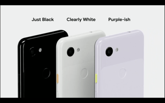 Pictures of the Pixel 3a.