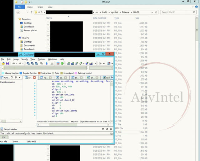 A screenshot of samples of source code presented by the hacking collective Fxmsp showing access to a major US antivirus software company.