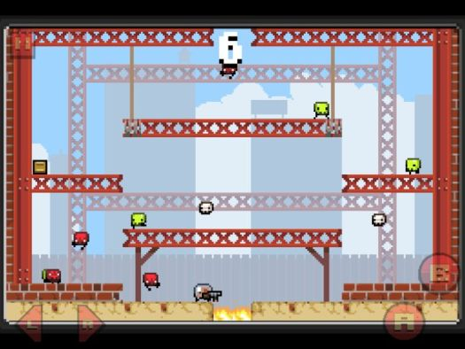 Vlambeer's <em>Super Crate Box</em> is among the well-remembered iOS titles being brought back thanks to GameClub.
