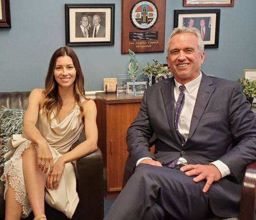 Actress Jessica Biel supporting prominent anti-vaxxer Robert F. Kennedy Jr in effort to protect non-medical vaccine exemptions.