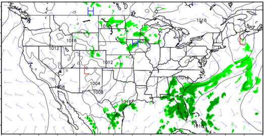 Forecast output from the new version of the model, which goes into service today.