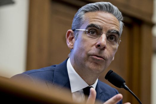 David Marcus, head of blockchain at Facebook, speaks at a House Financial Services Committee hearing on Wednesday, July 17, 2019.