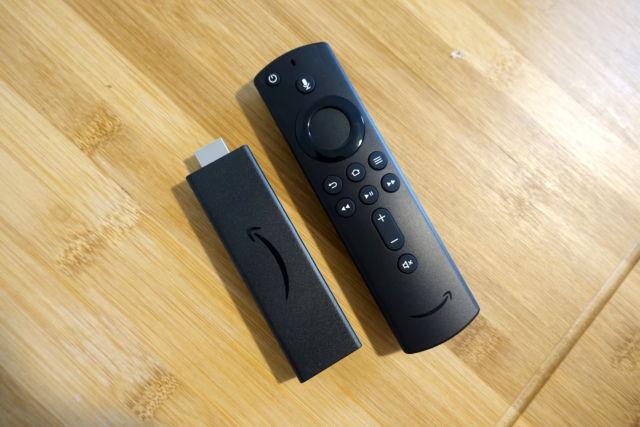 The Amazon Fire TV Stick 4K.