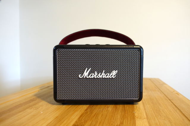 The Marshall Kilburn II is a pricey but premium portable Bluetooth speaker that we like.