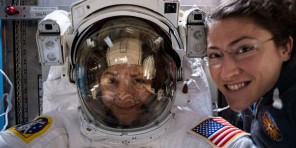 Two women completed a seven-hour spacewalk on Friday