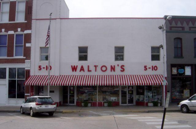 Sam Walton's original Walton's Five and Dime Store in Bentonville, Arkansas, now serves as The Walmart Museum