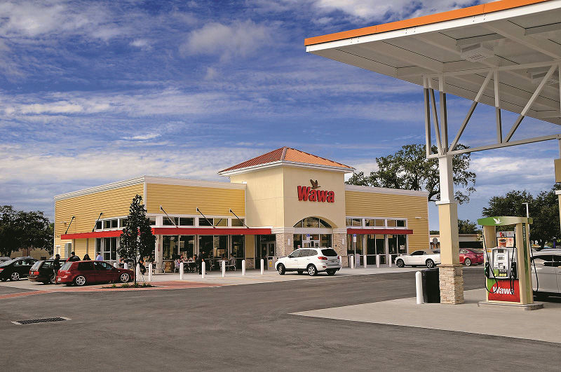 Promotional image of gas station.