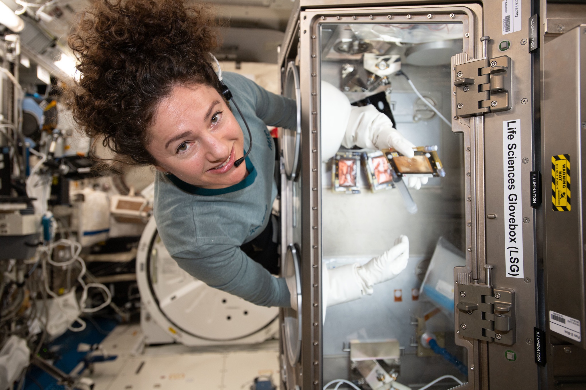 Jessica Meir is one of three astronauts on the International Space Station today.