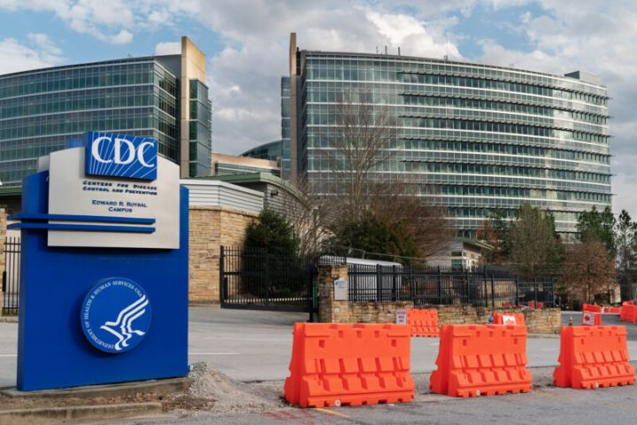 Barricades stand outside the Centers for Disease Control and Prevention (CDC) headquarters in Atlanta, Georgia, on Saturday, March 14, 2020. As the novel coronavirus has spread in the US, the CDC is under increasing heat to defend a shaky rollout of crucial testing kits.