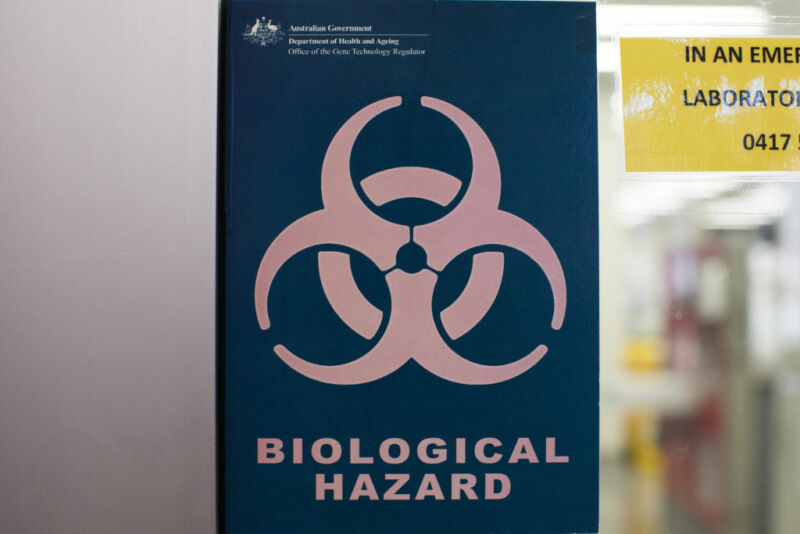 Image of a biohazard warning sign.