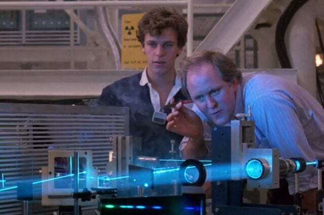 Christopher Collet is a high school student who builds an atomic bomb, and John Lithgow plays a nuclear scientist, in <em>The Manhattan Project</em>.