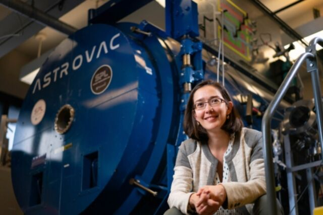 Carmen Guerra-Garcia, an assistant professor of aeronautics and astronautics at MIT, is the lead author of a new study analyzing the effect of wind on underground corona discharges.