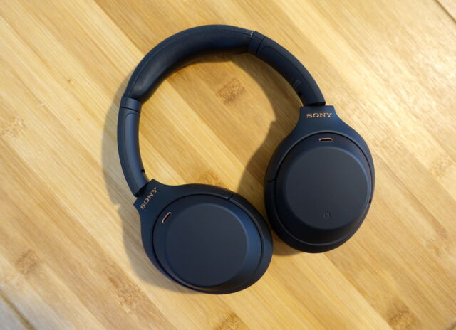 Sony's WH-1000XM4 noise-cancelling headphones.