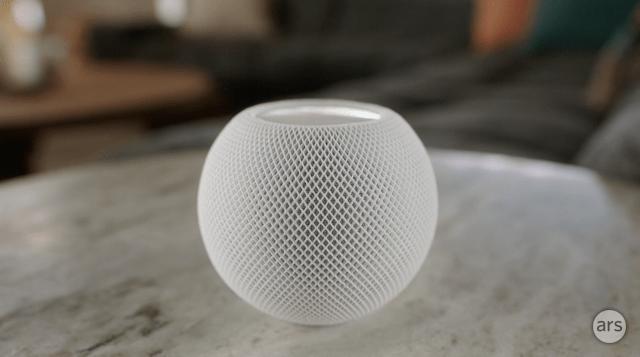 The Apple HomePod mini.