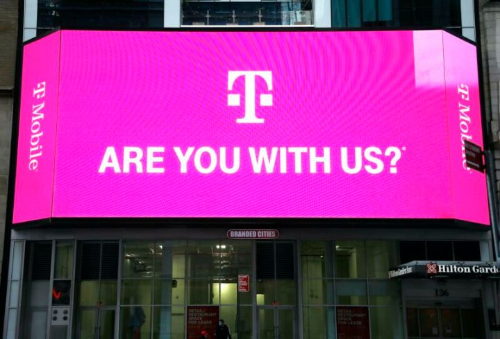 A T-Mobile advertisement that says,
