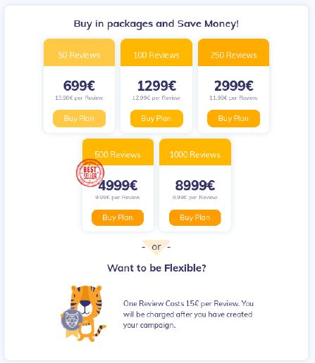 AMZTigers' price list.