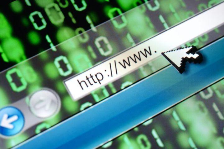 Stylized illustration of Internet address bar.