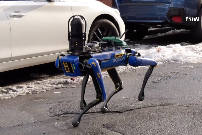 The NYPD's Digidog is just a Boston Dynamics robot in blue livery.