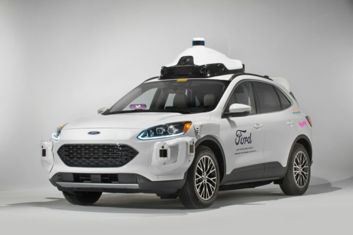 This is Argo AI's fourth-generation autonomous vehicle, built using the Ford Escape Hybrid.