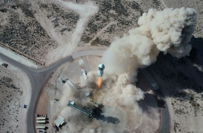 ns14-launch-drone-800x524 Blue Origin set for historic first human flight of its New Shepard system | Ars Technical