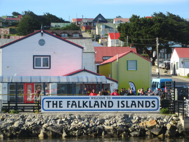 The Falkland Islands are a very welcoming place, unless you're looking for high-speed Internet.