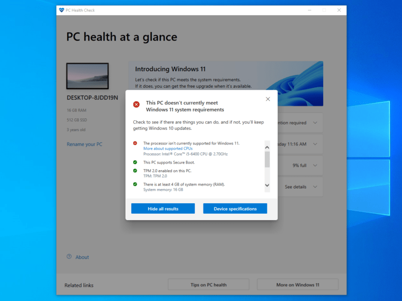 It doesn't fix how strict the new Windows requirements are, but the new PC Health Check app can at least give you detailed information and more useful recommendations.