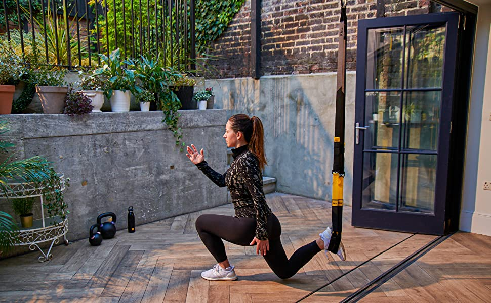 The TRX suspension trainer is great for simple bodyweight exercises and more advanced, suspension-based workouts.