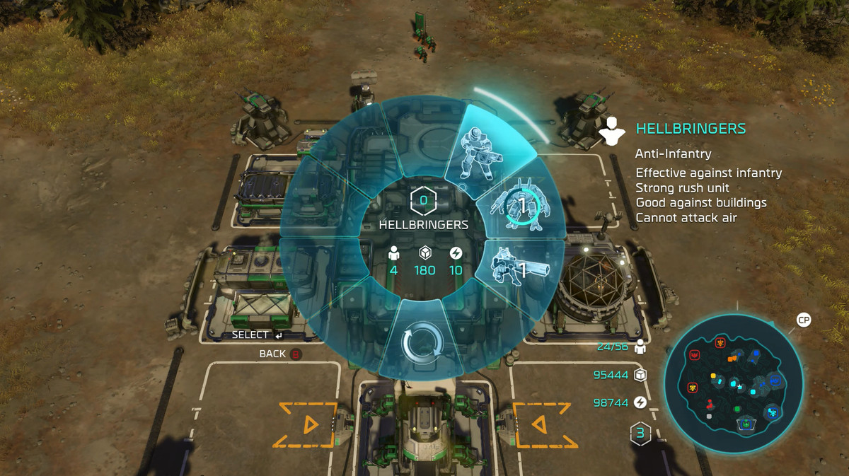 Halo Wars 2 radial menu