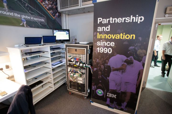 """IBM's presence at Wimbledon is entirely transient—they turn up, run things for a couple of weeks, then disappear. As such, the """"servers"""" are all just ThinkPad and MacBook laptops."""